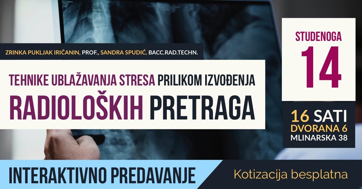 Tehnike ublažavanja stresa prilikom izvođenja radioloških pretraga