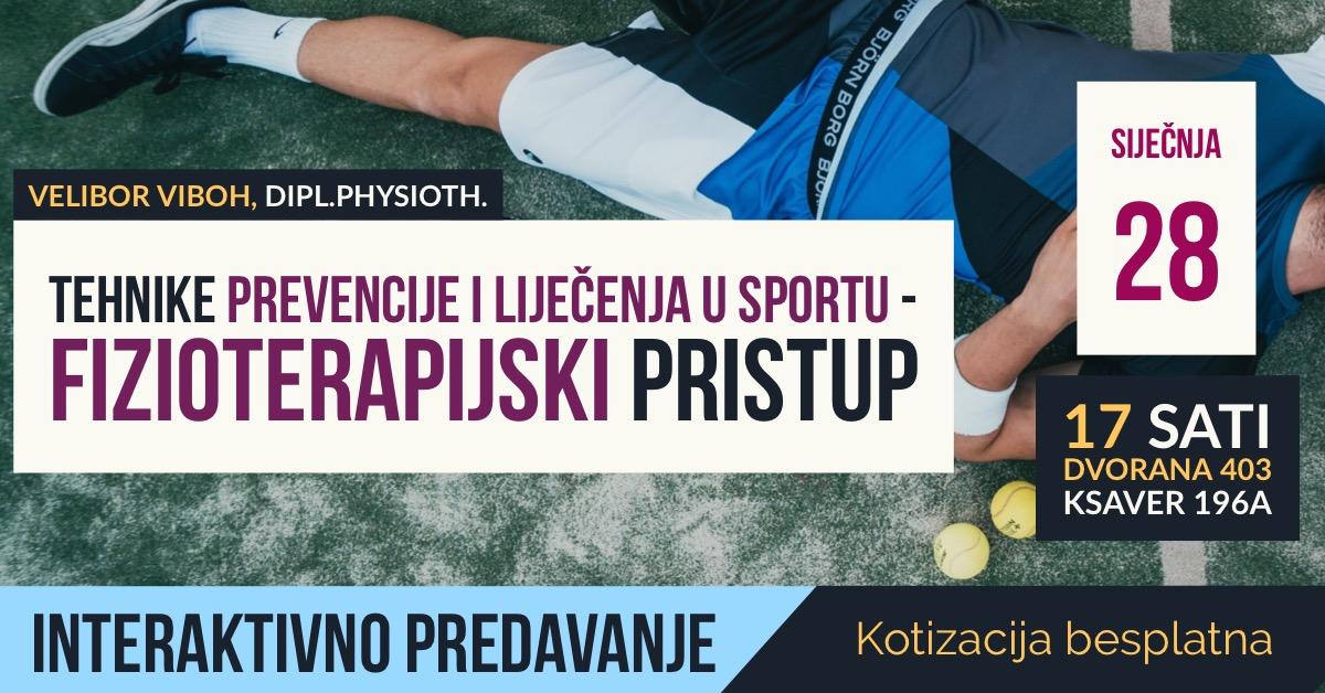 Tehnike prevencije i liječenja u sportu - fizioterapijski pristup