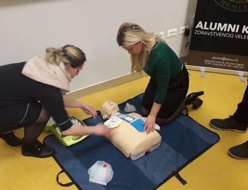 Edukacija osnovno održavanje života i automatska vanjska defibrilacija uspješno provedena