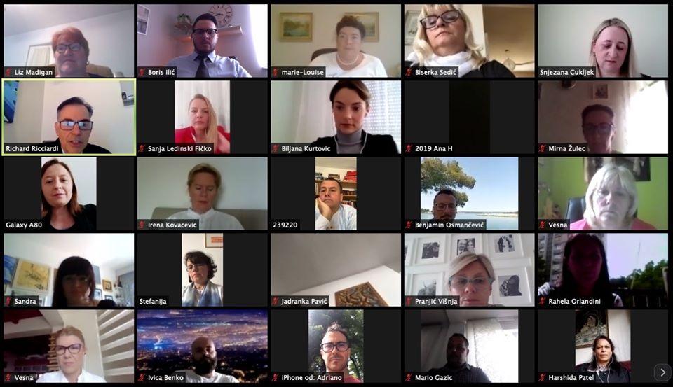 Osnivanje Sigma Nursing Hrvatska. Liz Madigan, Boris Ilić, Marie-Louise Luiking, Biserka Sedić, Snježana Čukljek, Richard Ricciardi